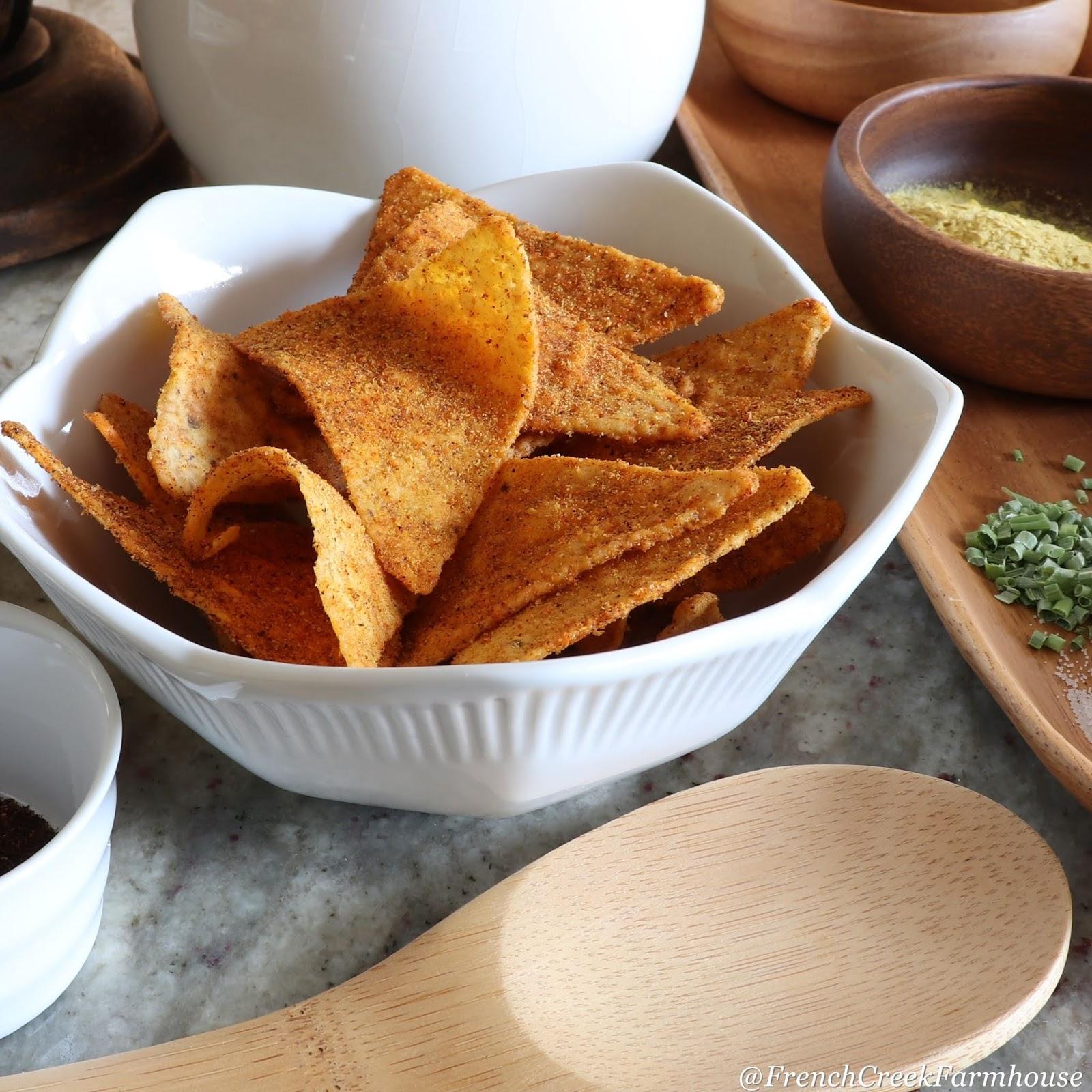 Nacho Cheese Flavored Chips (Gluten-free + Vegan)