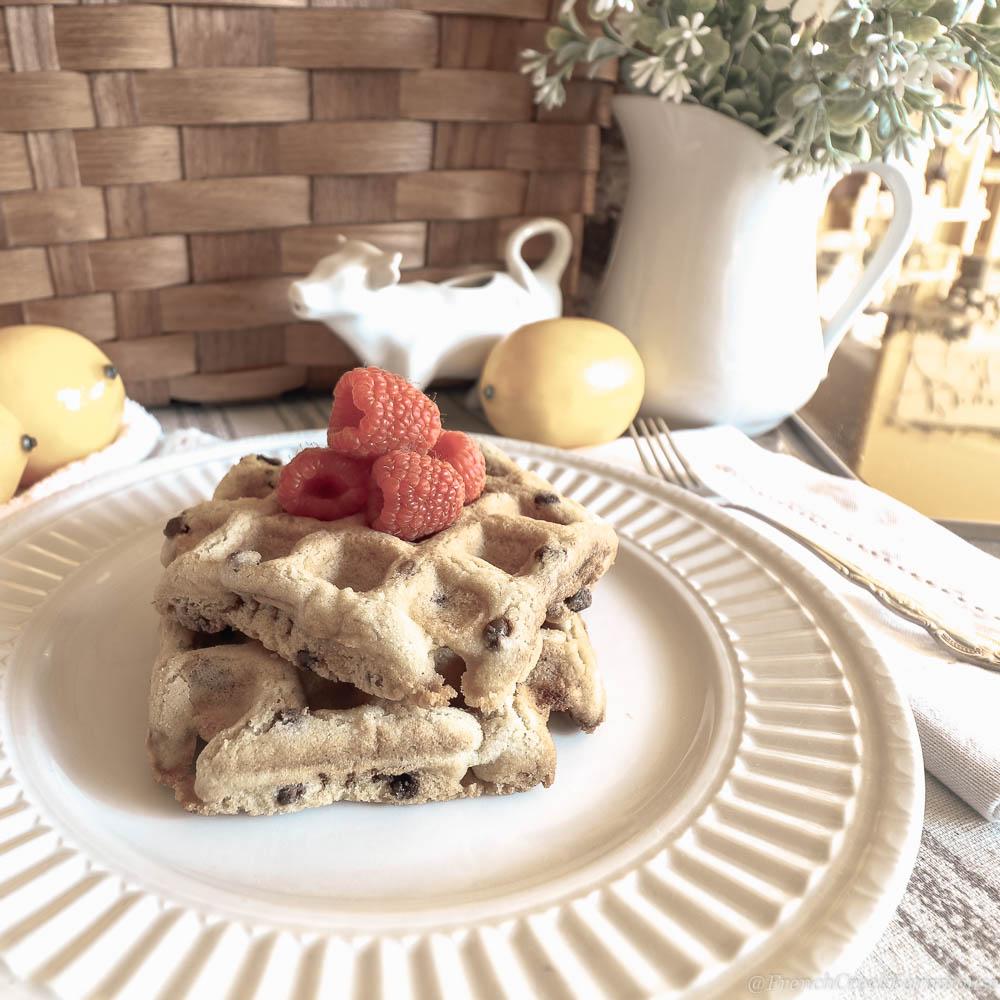 Lemon Quinoa Waffles (Gluten-free + Vegan)