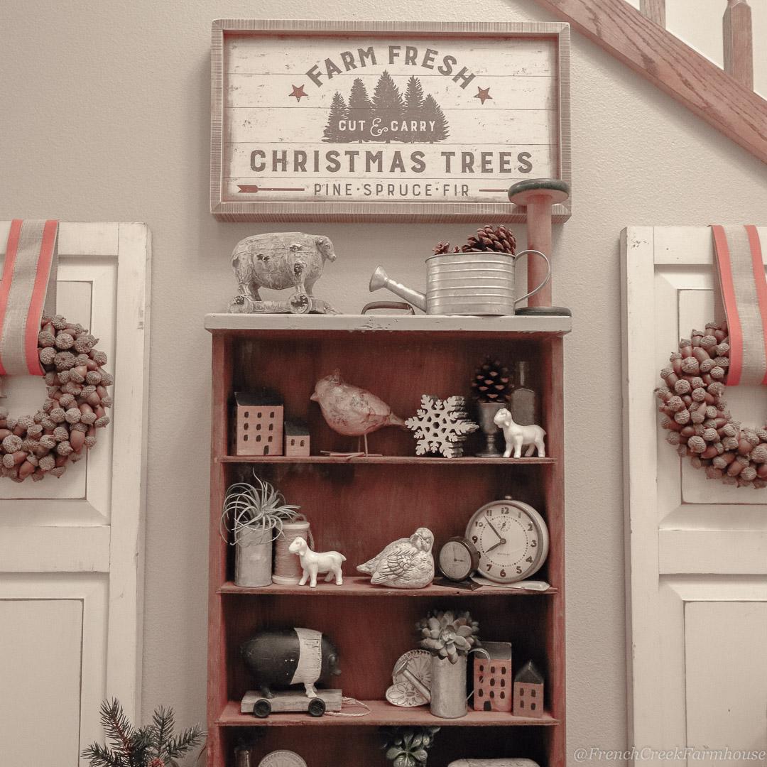 Tree Lot Themed Christmas Foyer
