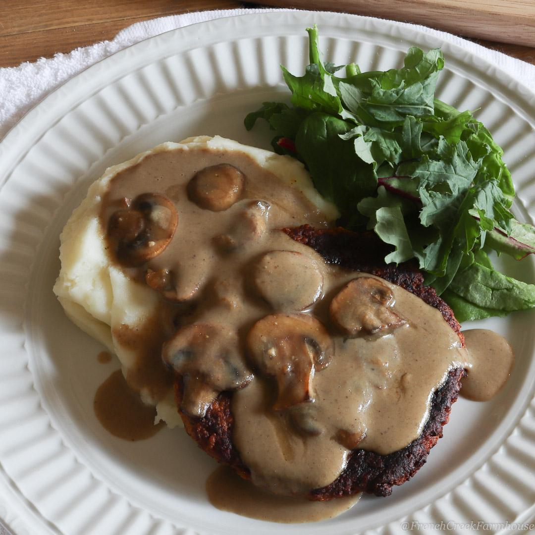 Salisbury Steak (Vegan + Gluten-Free)