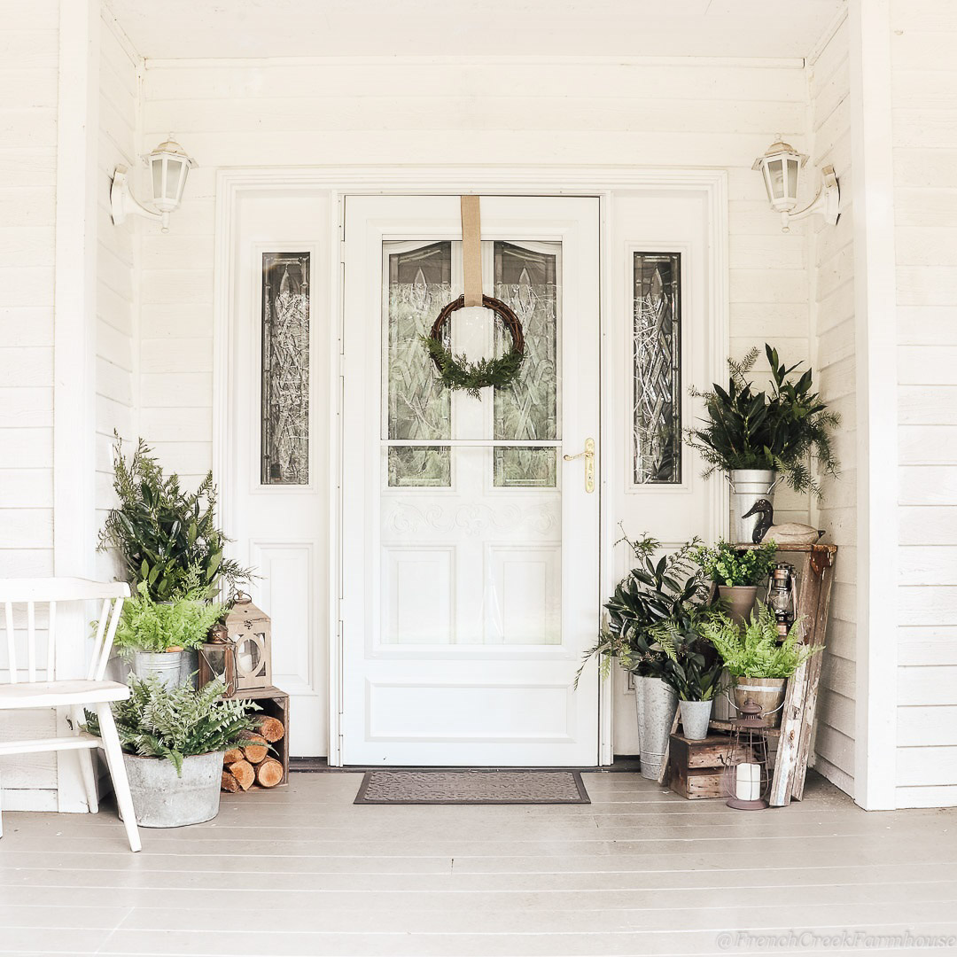 Minimalist Botanical Winter Porch