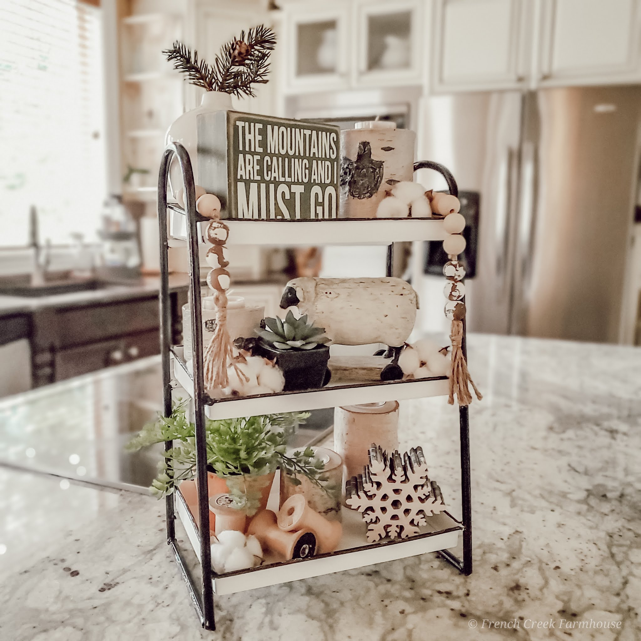 Cozy Mid-Winter Tiered Tray Styling