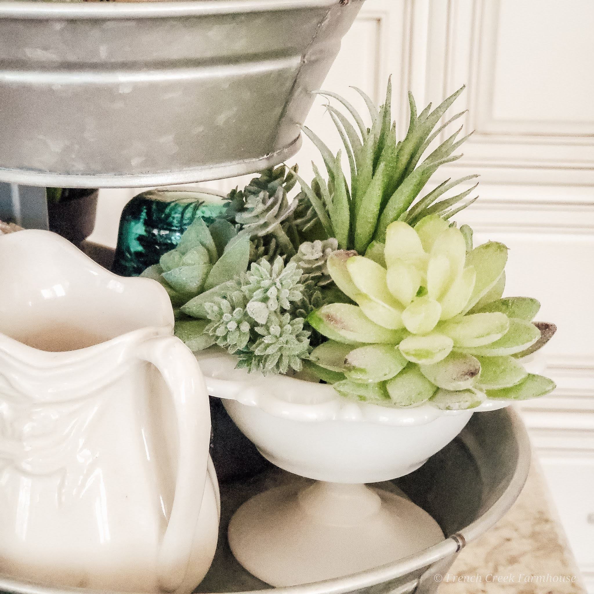 St. Patrick's Day Tiered Tray Decorating   French Creek Farmhouse
