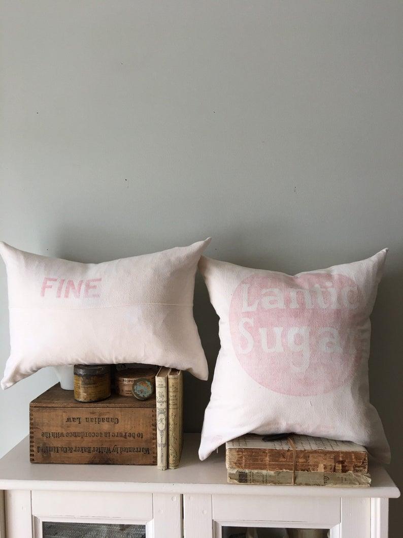 Vintage Feed Sack Pillows