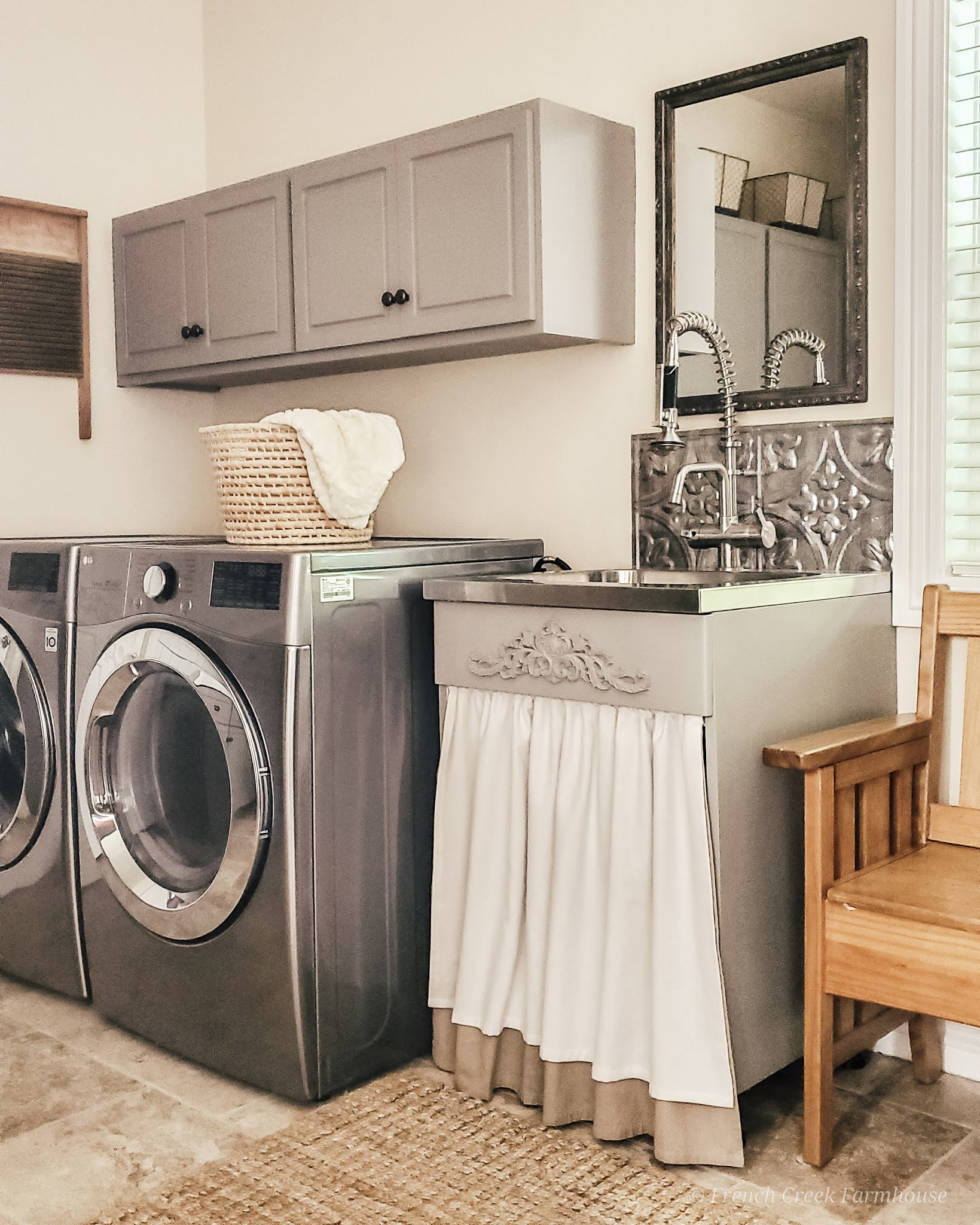 See the before and after of our farmhouse laundry room renovation