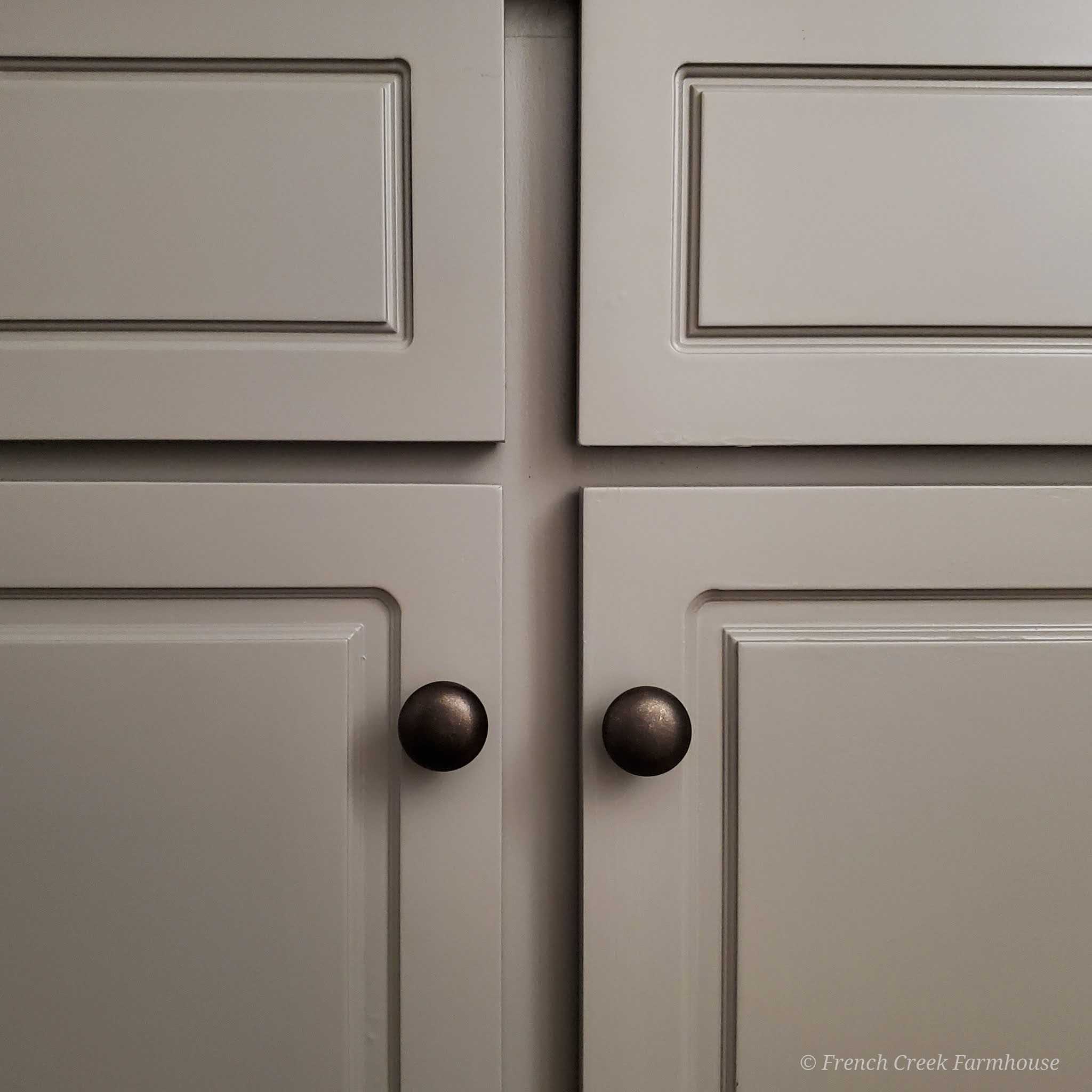 French Linen paint color on cabinets