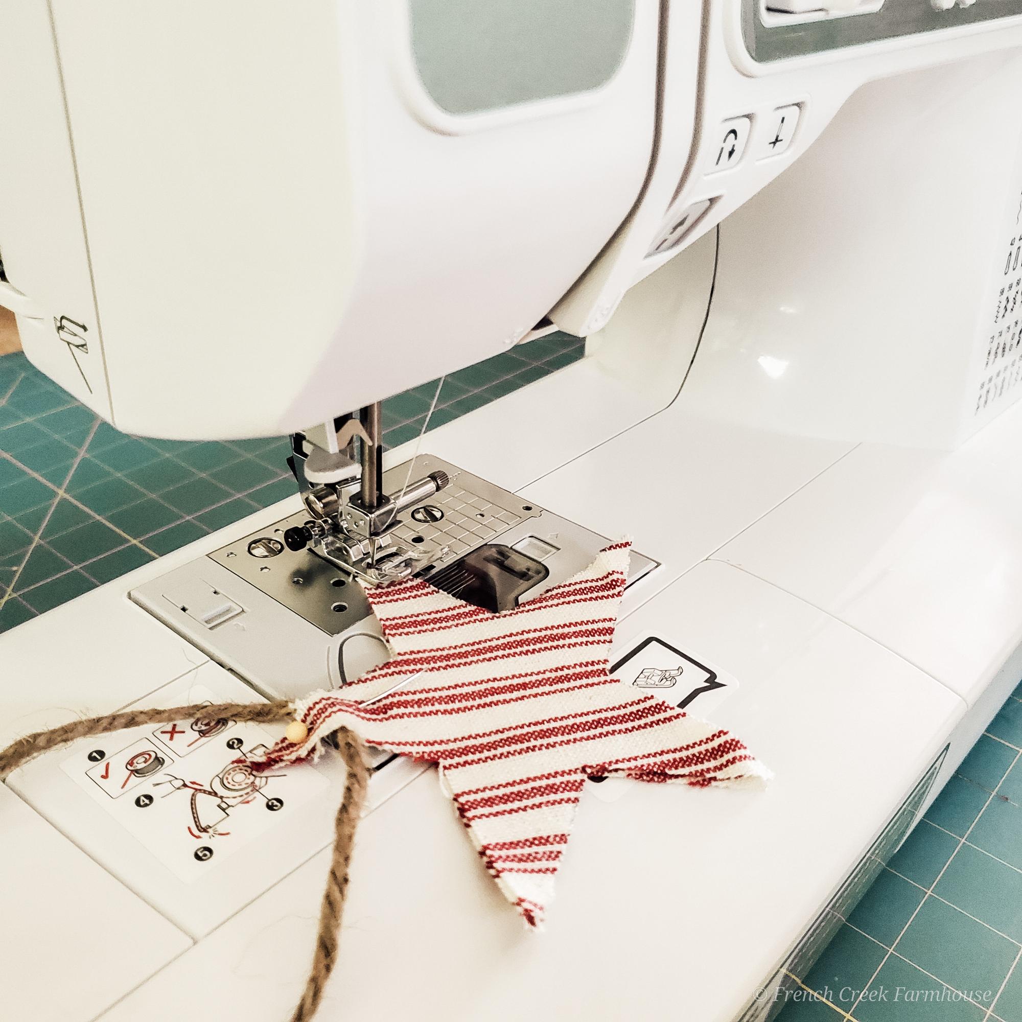 Step Five: Top stitch