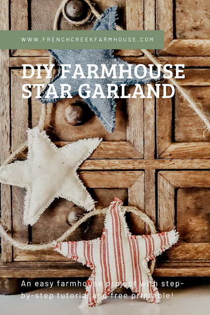 Make this patriotic farmhouse garland in only one hour!