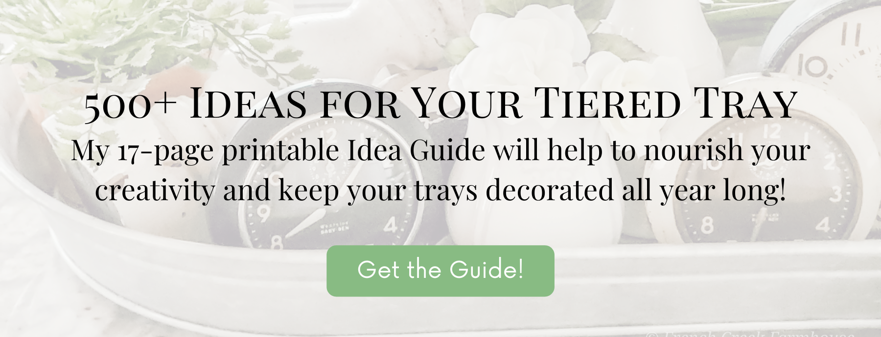 This 17-page printable guide will give you loads of ideas for decorating your tiered tray all year long
